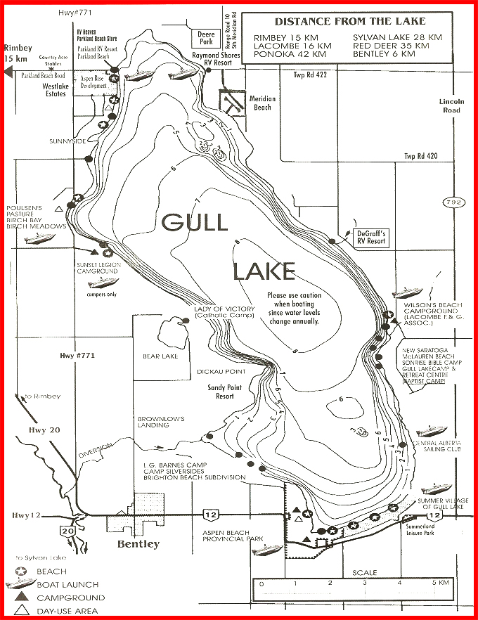 Gull Lake Map