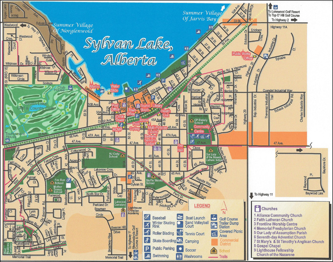 Sylvan Lake Map
